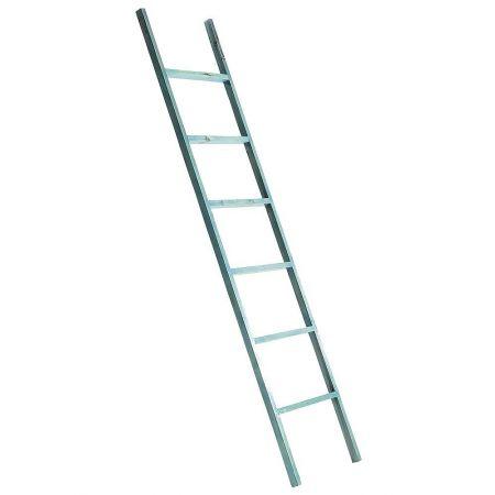 Διακοσμητική Σκάλα Ξύλινη - 6 Πατήματα Μπλε 170x38cm