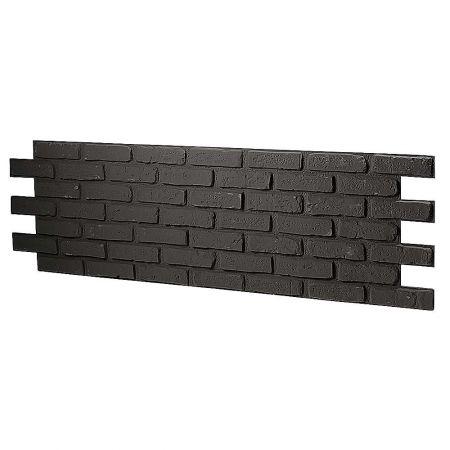 Διακοσμητικό πάνελ - τοίχος με τούβλα Μαύρο 150x50cm