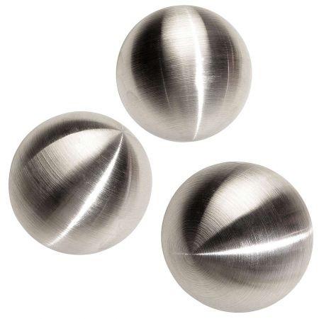 Σετ 3τχ διακοσμητικές μεταλλικές μπάλες 10cm