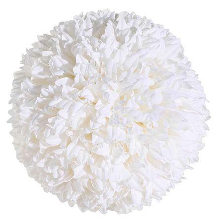 Διακοσμητική μπάλα - Pom Pom Λευκή 25cm