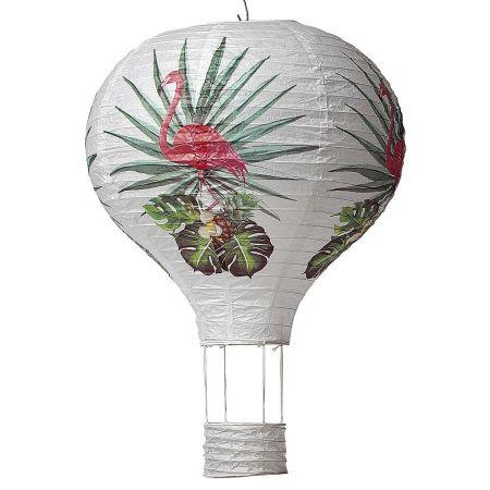 Σετ 2τχ κρεμαστά αερόστατα, με Φλαμίνγκο 36x40cm