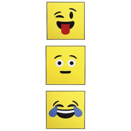 Σετ 3τχ Τετράγωνα Emoji από χαρτόνι 45x45cm
