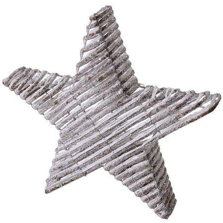 Επιδαπέδιο αστέρι κατασκευασμένo από μεταλλικό σκελετό και ρατάν με glitter.