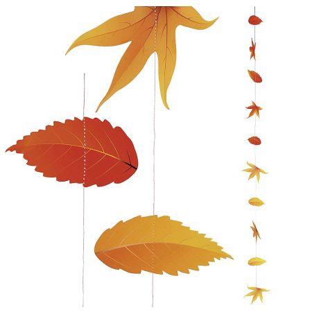 Διακοσμητική φθινοπωρινή γιρλάντα με φύλλα φθινοπωρινά 220cm