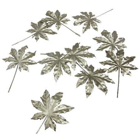 Σετ 10τεμ φύλλα Σφένδαμου Χρυσά 28x18cm