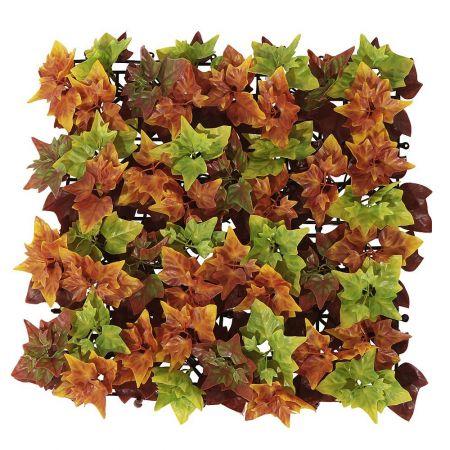 Διακοσμητικό πλακάκι με φθινοπωρινά φύλλα 50x50cm