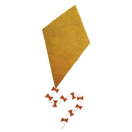 Διακοσμητικός χαρταετός σιζάλ Κίτρινο 130x75cm