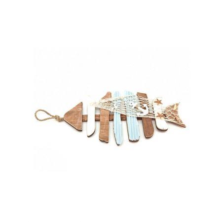 Ξύλινο κρεμαστό ψάρι 37,5x20x2,5cm