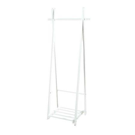 Ξύλινο σταντ για ρούχα Λευκό 153x60x45cm