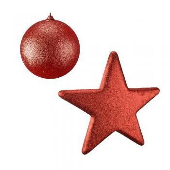 Μπάλες - Αστέρια με Glitter